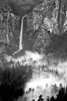 Bridalveil Falls in rain