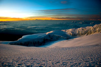 Sunrise above the cloud layer from Kilimanjaro
