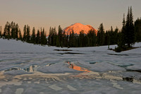 Sunrise over Mount Rainier. Washington. USA.