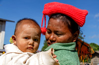 Mother and Child. Inle Lake. Myanmar.