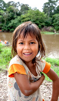 Smiling girl. Amazon basin. Peru. South America.