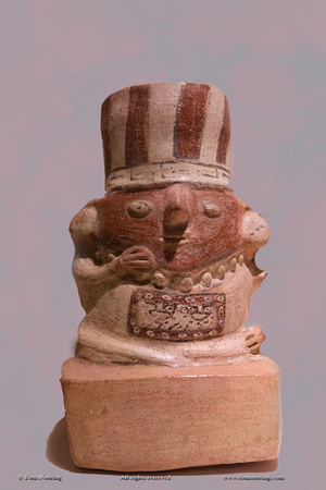 Larco Museum, Lima. Peru. South America. Pre-Colombian ceramic art.