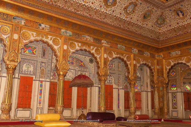 Palace of Flowers. Moti Mahal. Phool Mahal. Mehrangarh Fort. 10th century. Jodhpur. Rajasthan. India.