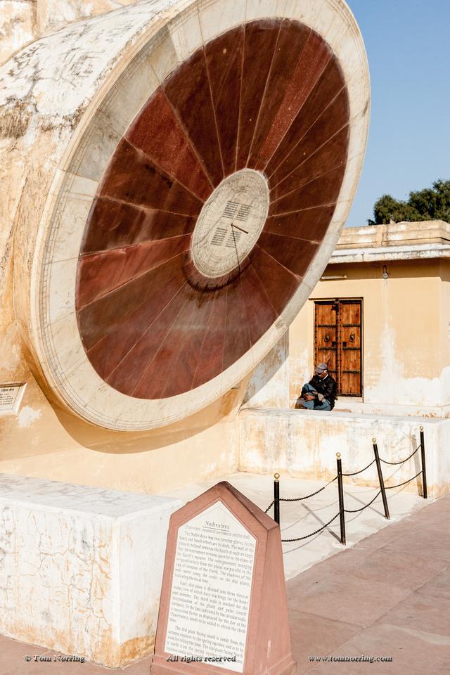 Small sundial. Jantar Mantar. Astronomy observatory. Jaipur. Rajasthan. India.