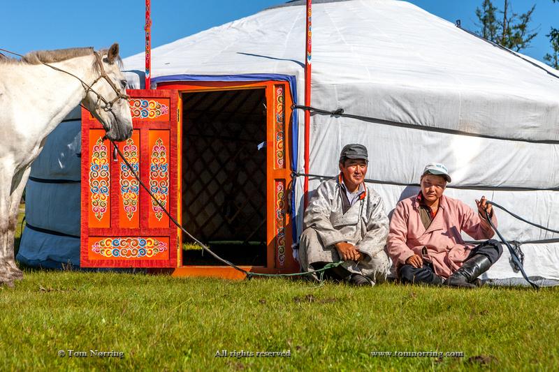 Erecting a Ger, Lake Hovgol, Mongolia.