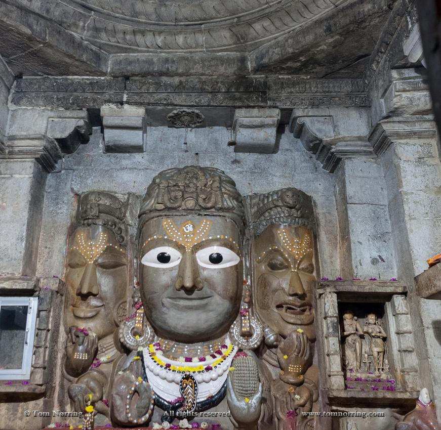 Shive bass relief. Chittaurgarh Citadel. 6th century. Rajasthan. India.