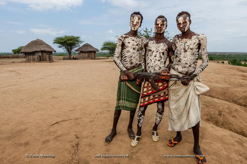 Kara tribal people posing. Kolcho Village. Omo Valley. Ethiopia,Africa.