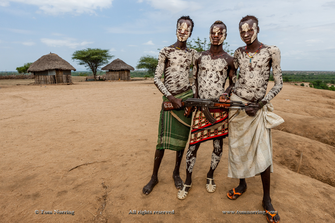 Kara tribal people posing. Kolcho Village. Omo Valley. Ethiopia,Africa.