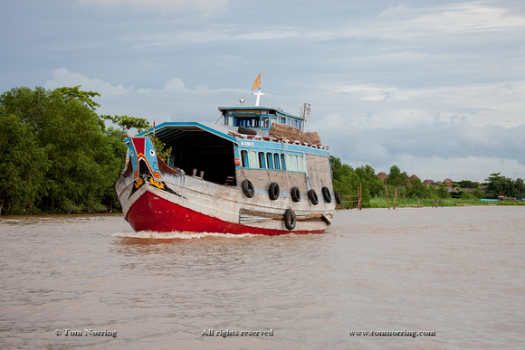 River Boat, Mekong River Delta. Vietnam, Indochina, South East Asia. Orient. Asia.