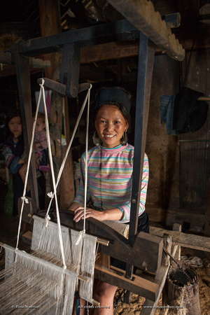 Weaving home industry in farm house. SAPA region. Vietnam, Indochina, South East Asia. Orient. Asia.