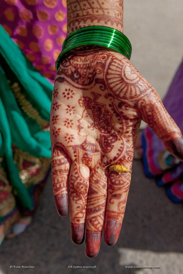 Henna decoration. Udaipur Rajasthan. India.
