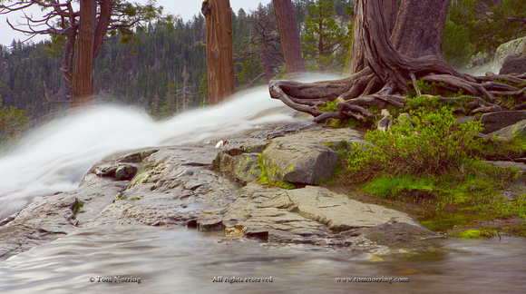Lower Eagle Falls above Emerald Bay at Lake Tahoe. Califonia.