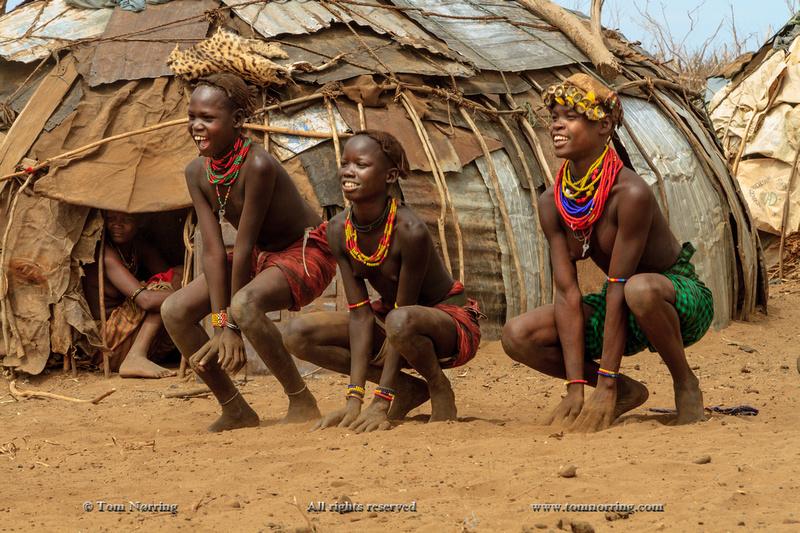 Dasanech dancers. Ethiopia,Africa.