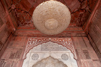 Architectural detail. Jama Mashid, mosque. Delhi. India.