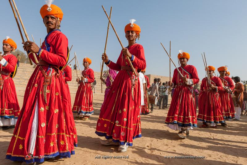 Indigenous people. Festival parade. Desert festival. Jaisalmer. Rajasthan. India.