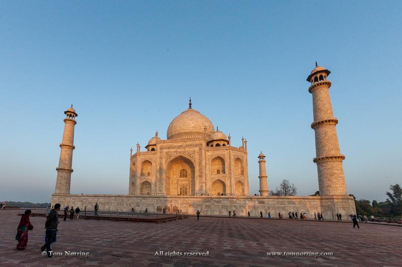 Taj Mahal at sunset. Agra. India.